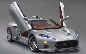 Picture auto, open doors, Metalik, spyker C8 aileron