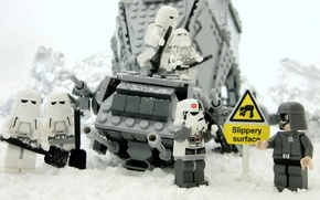 Picture Winter, Clones, Star Wars, Star wars, Lego, Slippery Surface, Slippery Surface
