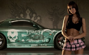 Wallpaper auto, girl, Need for speed prostreet