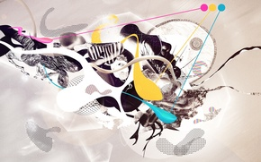 Picture abstraction, creative, collage, Wallpaper, art