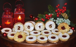 Picture spruce, cookies, lights, cakes, 2016