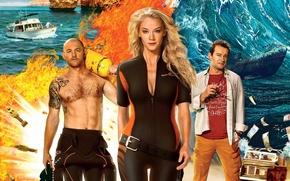 Wallpaper adventure, poster, diving, Malta, Svetlana Khodchenkova, Konstantin Khabensky, Denis Shvedov, Adventurers