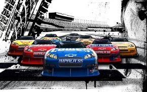 Picture Figure, Chevrolet, Race, Machine, A lot, NASCAR, Nascar