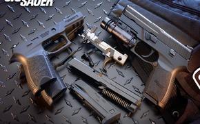 Wallpaper bullets, Gun, trunks, oboima