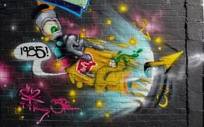 Picture the city, wall, grafiti