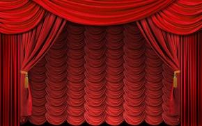 Wallpaper red, scene, blind, curtain, curtain