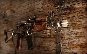 Picture weapons, Kalashnikov, Machine, AKS74U, AKS-74U
