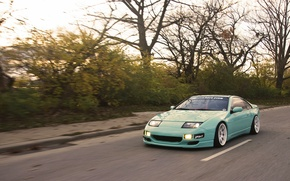 Picture green, Nissan, Nissan, front, 300zx, fairlady