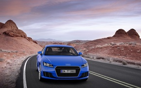 Picture Audi TT, the sky, mountains, blue, Audi TTS Coupe 2015