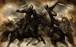Wallpaper Knights, Swords, Mount & Blade, Fight