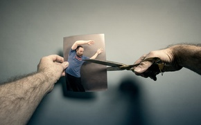 Picture photo, people, scissors
