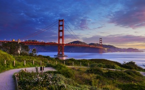 Picture San Francisco, Golden Gate Bridge, San Francisco, the Golden Gate Strait, The Golden Gate Bridge, …