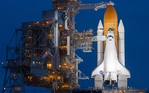 Picture lights, Atlantis, Shuttle, NASA, spaceport, Atlantis, launch pad