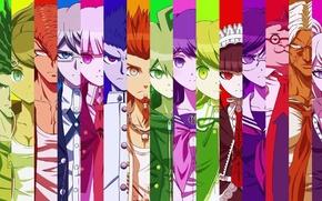 Picture danganronpa, school of despair, Junko Enoshima, Chihiro Fujisaki, Oowada Mondo, Touko Fukawa, Sakura Oogami, Aoi …