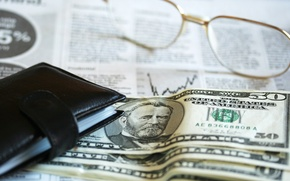 Picture dollar, glasses, financial accounting