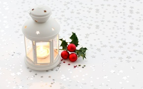 Wallpaper white, balls, balls, candle, New Year, Christmas, flashlight, red, Christmas
