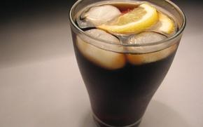 Wallpaper glass, lemon, ice, glass, cold, lemon, ice