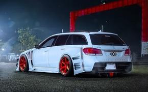 Picture Mercedes-Benz, Red, AMG, E63, Wagon, Wheels, by Khyzyl Saleem