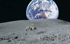 Picture space, earth, Wallpaper, the moon, planet, NASA, lunar vehicle, view of earth from the moon