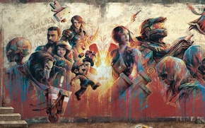 Picture graffiti, art, heroes, characters, top games