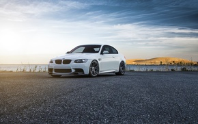 Picture Flow, Car, Color, Vorsteiner, E92, Forged, White, Front, Wheels, BMW