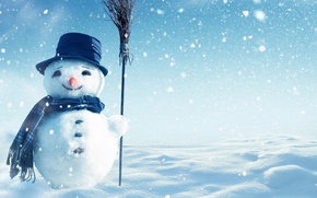 Picture christmas, winter, snow, snowman