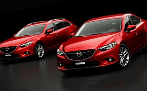 Picture Red, Auto, Sedan, Car, Mazda 6, The front, Universal