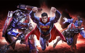 Wallpaper Clark Kent, DC comics, Warner Games, Superman, art, Kal-El, infinite crisis, mmorpg