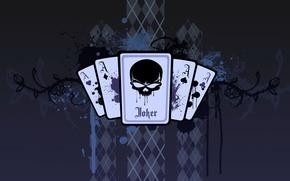 Picture blue, Joker, Card