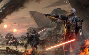 Picture attack, lightsaber, Sith, Star wars, old republic, Darth malgus