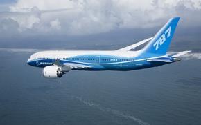 Wallpaper clouds, 787, flight, boeing, Boeing, dreamliner
