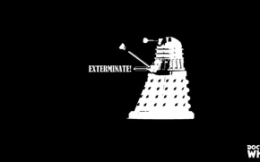 Picture black and white, Doctor Who, Doctor Who, Dalek, Far, BW