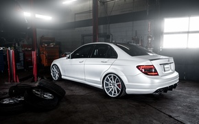 Picture wheels, Mercedes Benz, AMG, C63, rearside