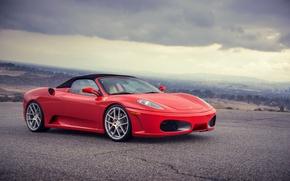 Picture Ferrari, supercar, red, Ferrari, spider, f-430, Spider, F-430, frontside
