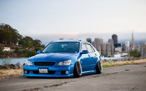 Picture turbo, lexus, japan, toyota, blue, jdm, tuning, front, face, low, height, is200, stance, is300, dropped, …