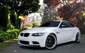 Picture White, sports car, BMW M3, BMW m3