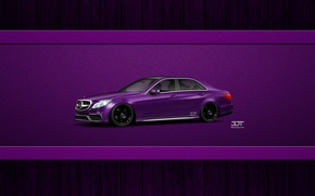 Picture Mercedes, purple, 3D Tuning