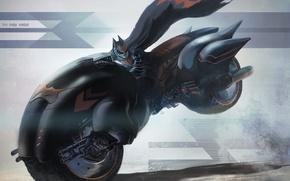 Picture speed, bike, Batman, simple background