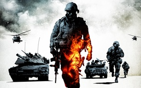 Picture weapons, war, army, technique, soldiers, battlefield, bad company