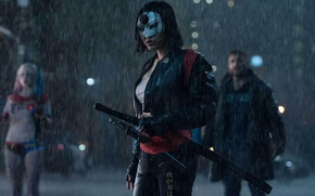 Wallpaper cinema, wallpaper, girl, sword, rain, fox, woman, movie, ken, blade, brunette, samurai, ninja, hero, asian, ...