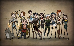 Picture Dragon Age, elf, Fenris, Hawke, dwarf, Sebastian Vael, Merrill, Isabela, Varric Tethras, Carver Hawke