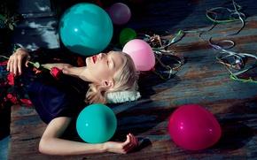 Picture balls, Jessica Stem, 2015, birthday, Numero, Jessica Stam, rose