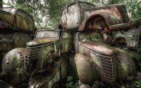 Picture machine, background, scrap
