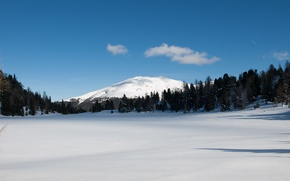 Picture winter, snow, Mountain, Frost, Nature, Frost, Snow Field, Snowy Field