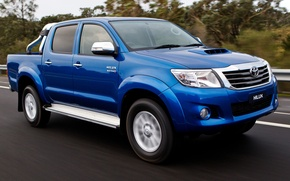 Picture Road, Blue, Japan, Speed, Australia, Wallpaper, Toyota, Car, Pickup, Auto, Blue, Hilux, Wallpapers, Toyota, Double …