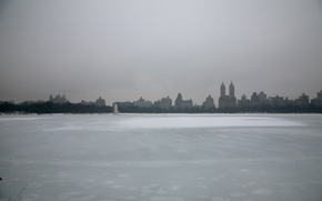 Picture USA, Winter, New York, Manhattan, NYC, Snow, New York City, Skyline, Central Park, Ice, Lake, …