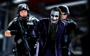 Wallpaper Joker, the dark knight, Joker, police, comic, the film