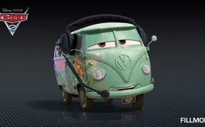 Wallpaper cartoon, cars, pixar, disney, cars 2, fillmore