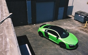 Picture Audi, Green, Machine, Audi R8, Car, Car, Green, Sportcar