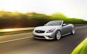 Picture Infiniti, front, silvery, Convertible, G37 S